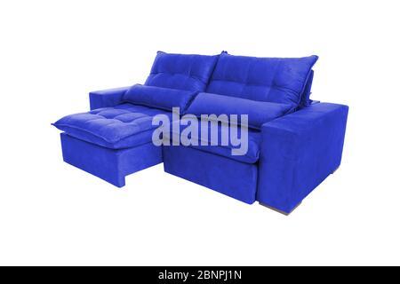 Moderne Farbe Wildleder Sofa isoliert auf weißem ...