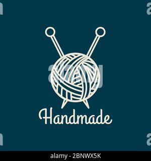 Handgefertigtes dünnes Symbol. Farbenfrohes Logo-Design. Vektorgrafik