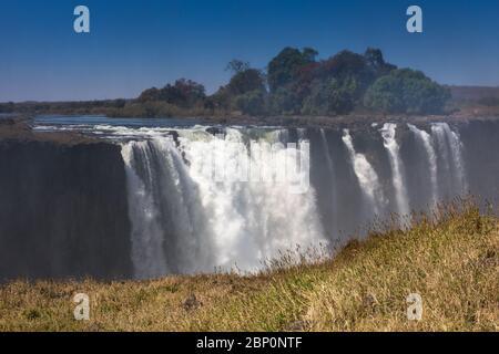 Victoria Falls Simbabwe im September - Stockfoto