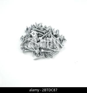 Nägel auf weißem Hintergrund isoliert. Nahaufnahme. - Stockfoto
