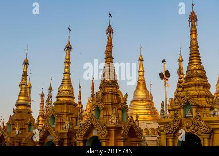 Shwedagon Pagode, Yangon (Rangun), Myanmar (Burma), Asien - Stockfoto