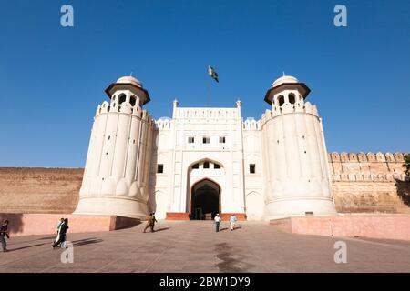 Alamgiri Tor von Lahore Fort, Zitadelle des Moghul-Reiches, islamische und hinduistische Architektur, Lahore, Punjab Provinz, Pakistan, Südasien, Asien - Stockfoto