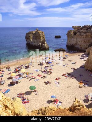 Praia de Sao Rafael, in der Nähe von Albufeira, Region Distrikt Faro, Algarve, Portugal - Stockfoto