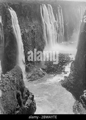 Victoria Falls, Zambesi in Afrika - Stockfoto