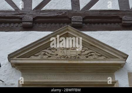 Detail des Portals am Rathaus in Bodenwerder