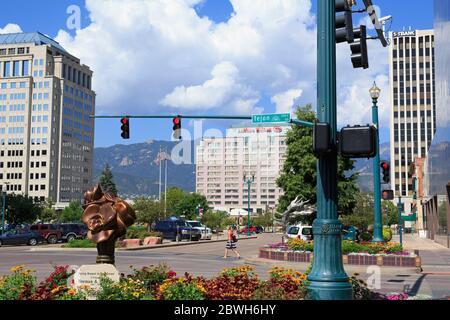 Tejon Street, Colorado Springs, Colorado, USA - Stockfoto