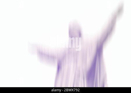 Abstrakt Blurred Blue Jesus Hintergrund, geeignet für Religion und Geist Konzept.