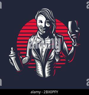 Barkeeper fickt junge Kollegin hinter der Theke
