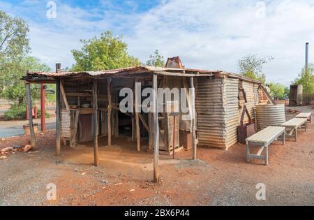 Typische Prospectors Hütte in Hannan's North Tourist Mine, Kalgoorlie, Eastern Goldfields, Western Australia, Australien