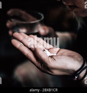 Antidepressiva Pillen - Stockfoto