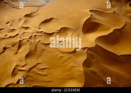 Sanddünen in der Sahara, Nordafrika. - Stockfoto