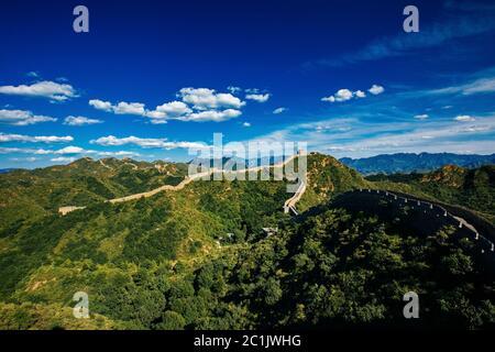 Peking, China - 11. AUG 2014: Jinshanling Chinesische Mauer - Stockfoto