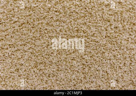 Nahaufnahme des hellbraunen Teppichhintergrunds im Tagungsraum - Stockfoto