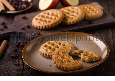 Cookies mit Apple füllen, delish hausgemachte, Foodfotografie, Essen lieferbar - Stockfoto