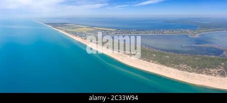 Luftbild am Strand und am Schwarzen Meer