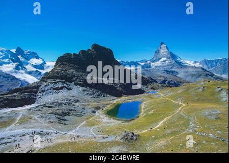 Gornergrat, Matterhorn und Klein Matterhorn, Schweiz, Wallis, Oberwallis, Zermatt