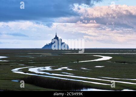 Mont Saint-Michel, Normandie, Frankreich - Stockfoto
