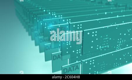 Big Data Sicherheit Informationstechnologie abstrakter Hintergrund.