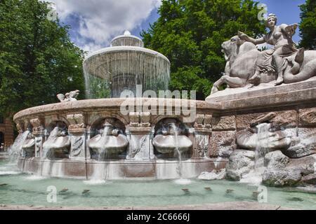 Wittelsbacher Brunnen, München, Bayern, Deutschland