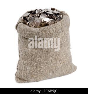 Tüte Geld. Isoliert auf Weiß