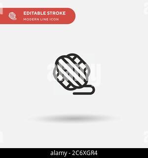 Ball of Wool einfaches Vektor-Symbol. Illustration Symbol Design Vorlage für Web mobile UI Element. Perfekte Farbe modernes Piktogramm auf bearbeitbaren Strich. Ball of Wool Icons für Ihr Business-Projekt