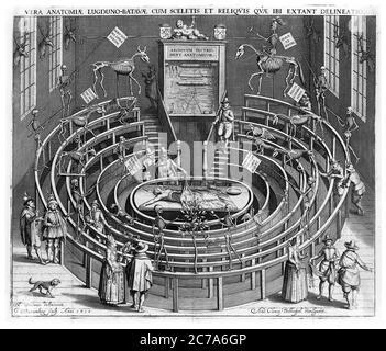 LEIDEN ANATOMISCHES THEATER, NIEDERLANDE, 1610 - Stockfoto