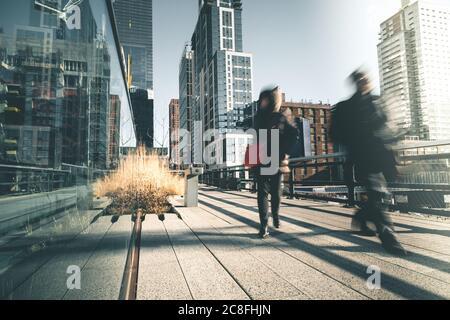 People Walking High Line - New York - Stockfoto