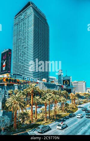 Las Vegas, Nevada, USA - 16. September 2018: die Hauptstraße von Las Vegas Strip. - Stockfoto