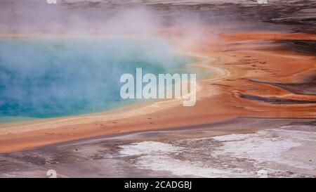 Detail von Grand Prismatic Spring in Midway Geyser Basin - Stockfoto