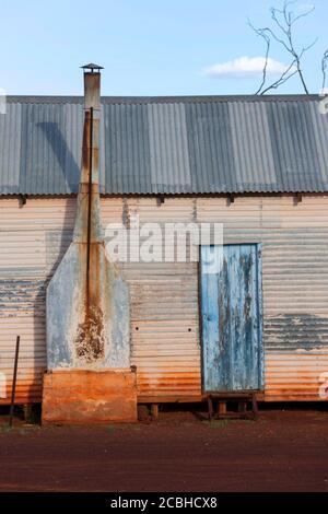 Wellblechgebäude, Lake Mason Homestead, Central Midlands, Western Australia