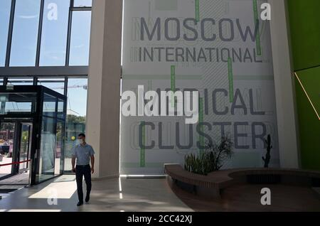 Moskau, Russland. August 2020. Die Moskauer Niederlassung des israelischen Hadassah Medical Center am Moskauer International Medical Cluster im Skolkovo Innovation Center. Kredit: Mikhail Tereschtschenko/TASS/Alamy Live Nachrichten - Stockfoto