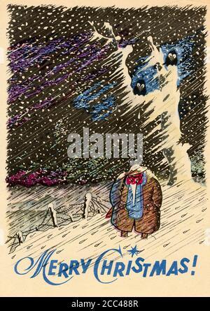 'Merry Christmas!» Deutsches Propagandaflyer für die Briten, 1944