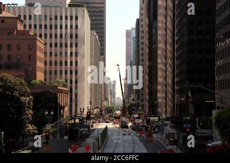Los Angeles Kalifornien USA Innenstadt Stadtbild zwischen Wolkenkratzern
