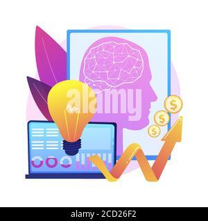 Künstliche Intelligenz in der Finanzierung abstrakte Konzept Vektor Illustration.