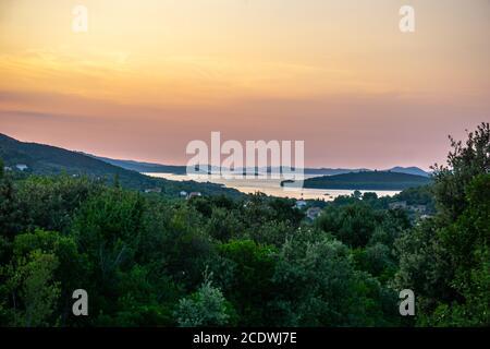 Sonnenuntergang in Kroatien - Stockfoto