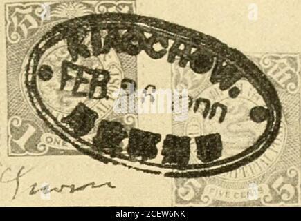 . The postwertscimes and devending of the deutsche poststanstalten in the Protection and in auslande.