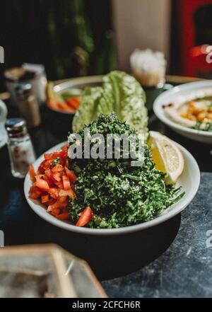 Salat in einer Schüssel