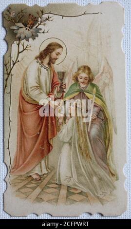 jesus segnet die kinder stockfotografie - alamy