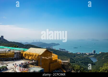 Victoria Peak, Blick über Kowloon und Hong Kong Island Stockfoto