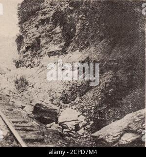 . Baltimore und Ohio Mitarbeiter Magazin . Die Felsen auf beiden Seiten ol Llie Track zeigen den Extetit der Rutsche entdeckt von Roy Henthorn 48 DIE BALTIMORE UND OHIO EMPLOYES MAGAZIN