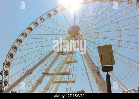 Riesenrad Budapest Auge auf Elizabeth-Platz in Budapest, Ungarn