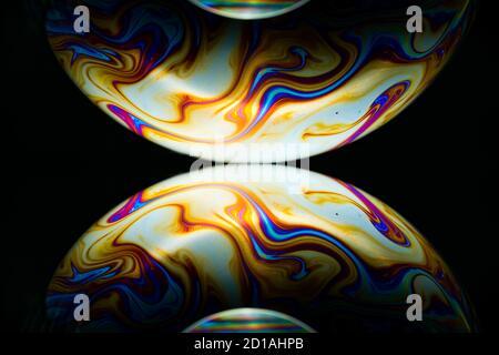 Seifenblase - Unschärfe bunte abstrakte Hintergrund - Stockfoto