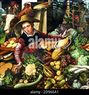 Marktfrau am Gemüsestand 1567 Pieter Aertsen 1508-1575 Holländisch Niederlande