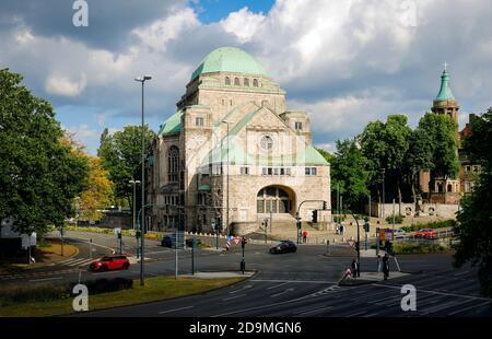Alte Synagoge ist heute das Haus der jüdischen Kultur, Essen, Ruhrgebiet, Nordrhein-Westfalen, Deutschland