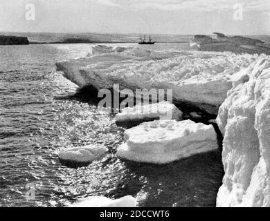 Australasian Antarctic Expedition, SY Aurora - Stockfoto