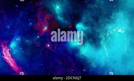 tolles Bild von einem Sternenhimmel mit Nebel - Stockfoto