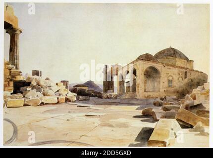 Charles Gleyre.1808-1874.Innenraum des Parthenon.