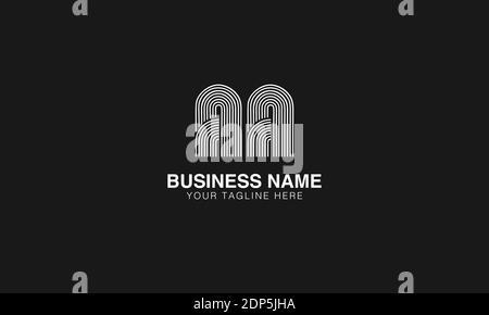 AA EIN anfängliches modernes minimales kreatives Logo Vektor-Template-Bild. Linienkunst Fingerabdruck-Logo