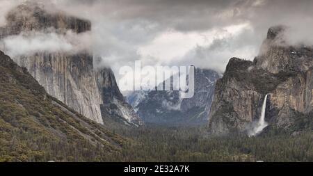 Yosemite Nationalpark und Tal mit dem imposanten El Capitan