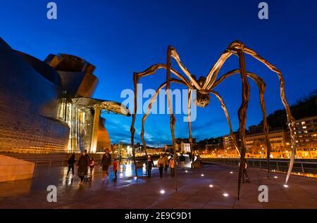 Skulptur 'Mama' im Guggenheim Museum in Bilbao, Bizkaia, Baskenland, Spanien, Europa.